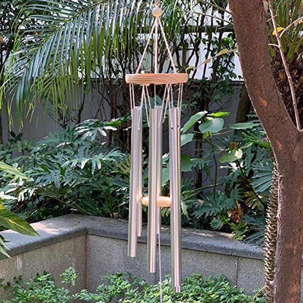 "Tuned 24"" Music Wind Chimes with 6 Aluminum Tubes for Outdoor, Patio, Garden, Indoor Decor."