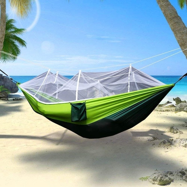 Camping Mosquito Nets Hammocks, Portable Lightweight Nylon Parachute For Outdoors Travel