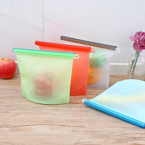 Reusable Silicone Food Storage Bags