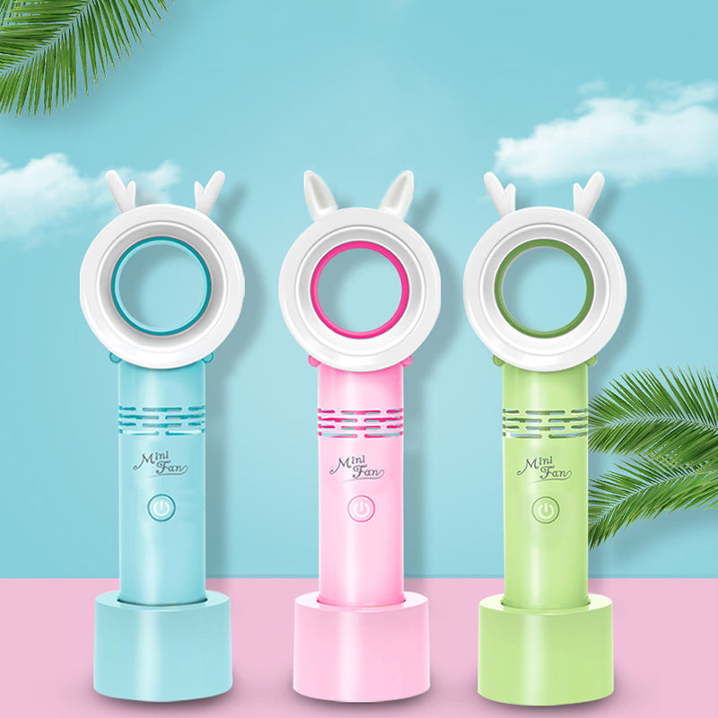 Mini Leafless Handheld Portable Rechargeable USB Small Fan