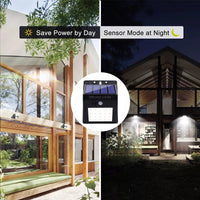 20 LED Solar Wall Lamp Wireless Motion Sensor Lights Outdoor Waterproof Night Light for Yard Walkway