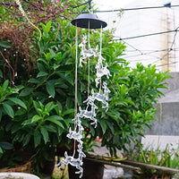 Solar Wind Chimes Lights Color Changing Deer Hanging Wind Bell Night Lamp