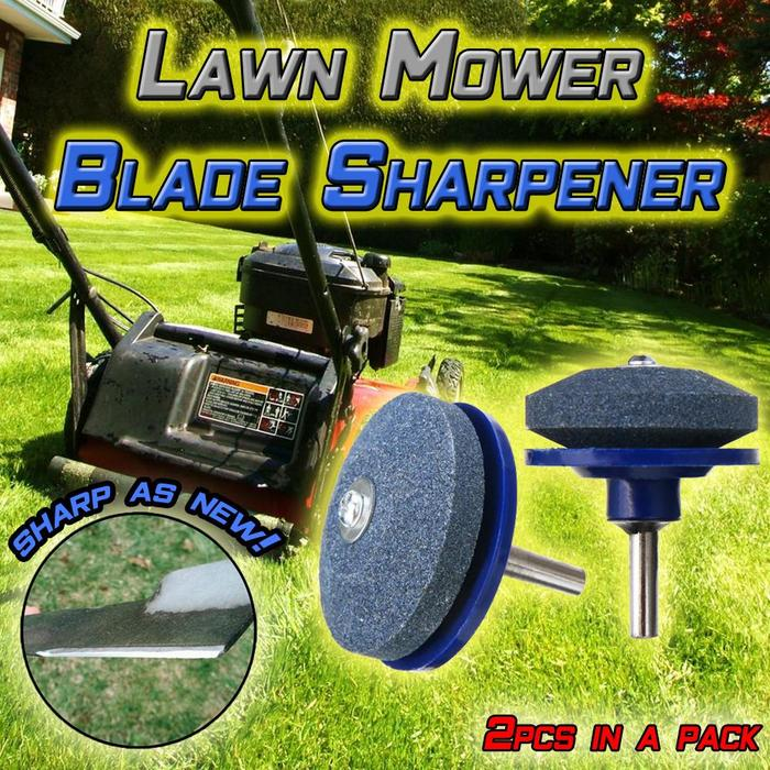 2Pcs Durable Lawnmower Blade Sharpener