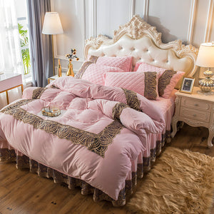 European Jacquard cotton quilted bed cover four sets
