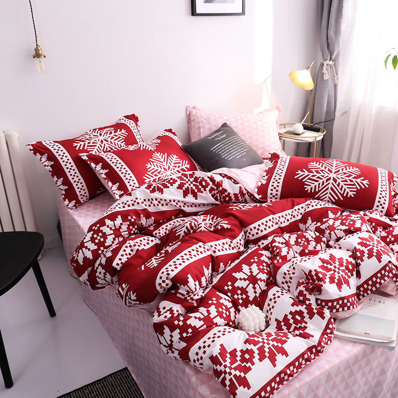 Christmas Bed Four-piece Quilt Cover