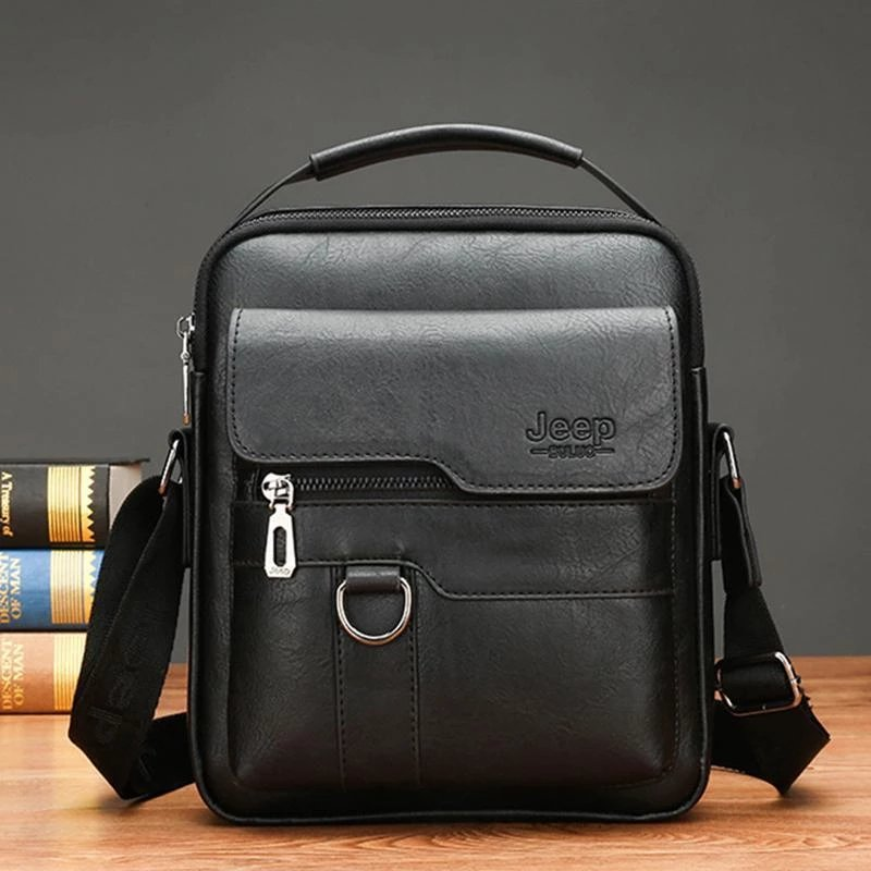 Men's Leather Business Messenger Bag