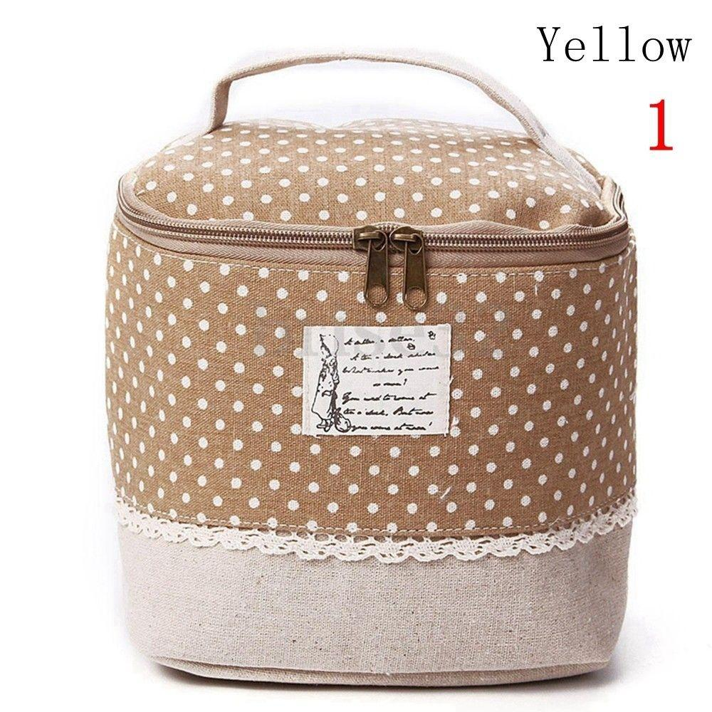 Makeup Toiletry Bag Organizer Linen Cosmetic Case Storage Pouch Travel