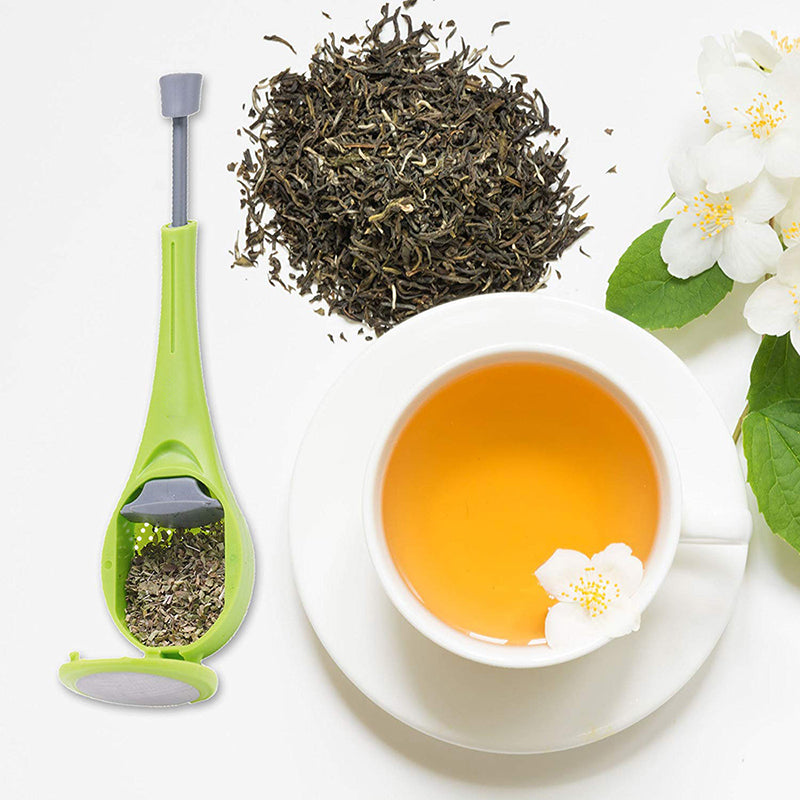 Tea Infuser Loose Tea Leaf Strainer Silicone Herbal Spice Filter Diffuser Tool