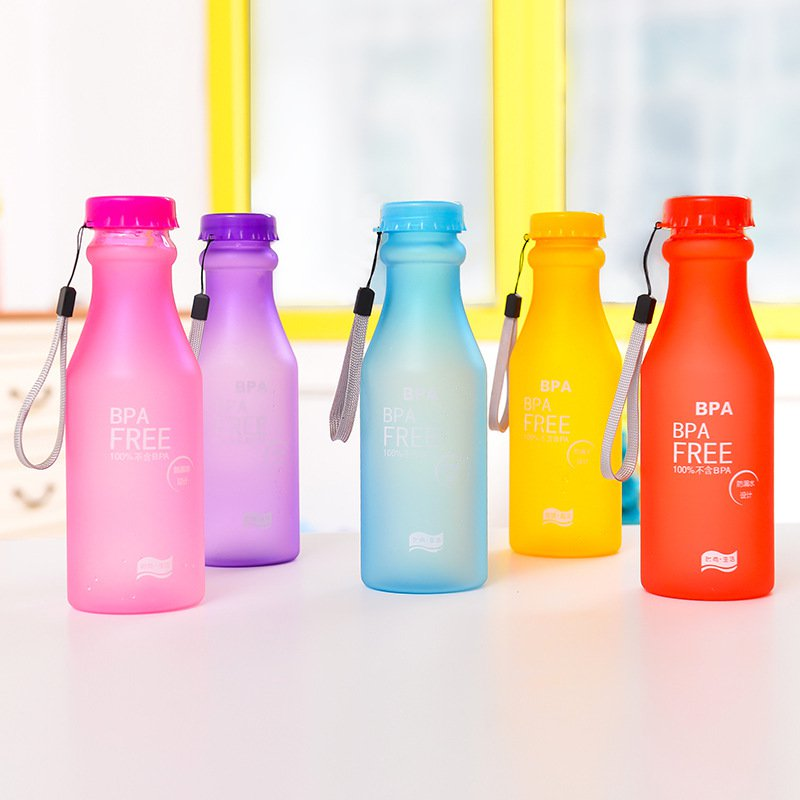 550mL BPA Portable Leakproof Unbreakable Travel Yoga Water Bottle for Running,Camping