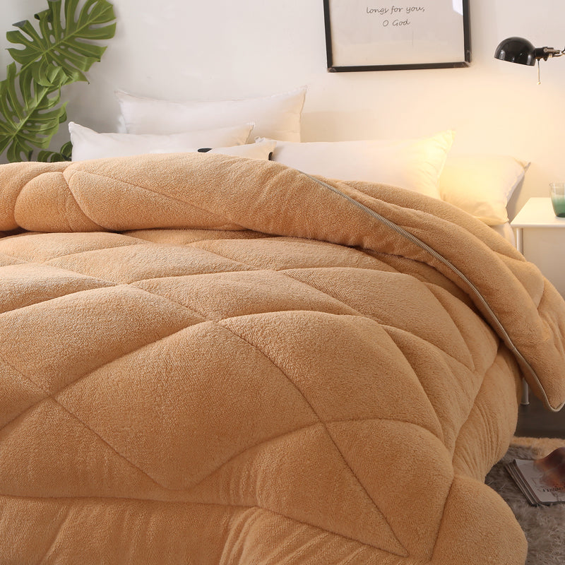 Double-sided Cashmere Thicken Blanket Winter Soft Warm Bed Quilt for Bedding Twin Full Queen  Size