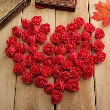 50pcs 3cm Artificial Roses PE Foam Rose Flower Wedding Party Home Decoration Valentine's day