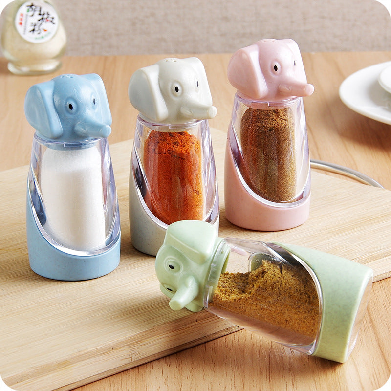 Wheat Straw Elephant Spice Jar Creative Kitchen Barbecue Pepper Spice Box
