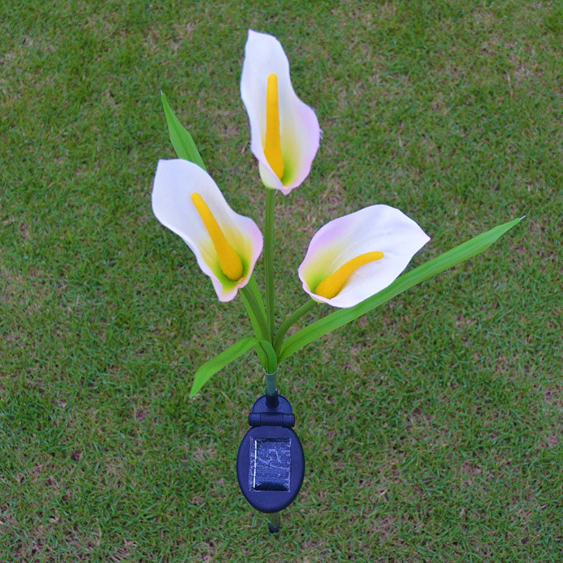 Solar Powered Calla Lily LED Outdoor Garden Light Decoration Lamp Lawn Induction Light