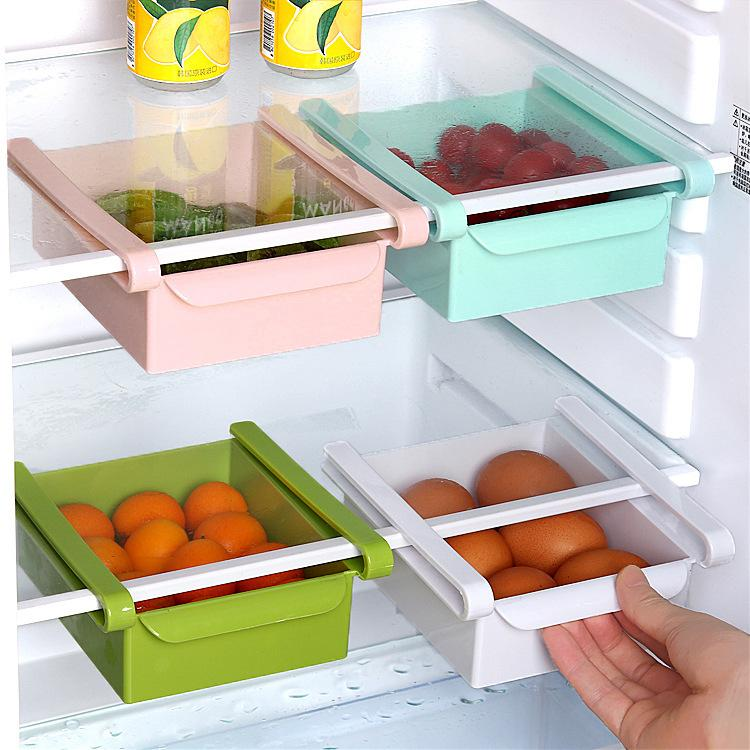 Sliding Space Saver Box Refrigerator Storage  Multi-function  Tools