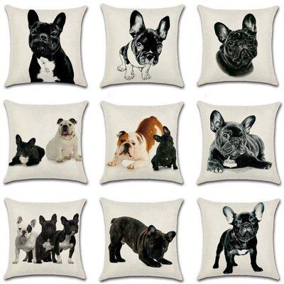 Lovely Dog Pet Print Cushion Case Pillow Case  Car Home Sofa Bed Decor