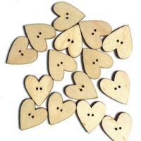 50Pcs Multi-Color Heart Wooden Sewing Buttons for DIY Craft Bag Hat Clothes Decoration