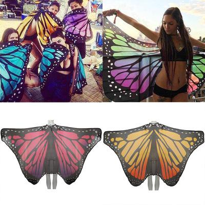 Butterfly Wing Shape Beach Towel Shawl Chiffon Home Decor