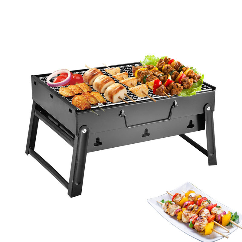 BBQ Grill Portable Collapsible Adjustable Outdoor Barbecue Grill
