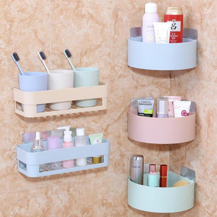 Sector/Rectangle Shaped Powerful Sticker Storage Basket