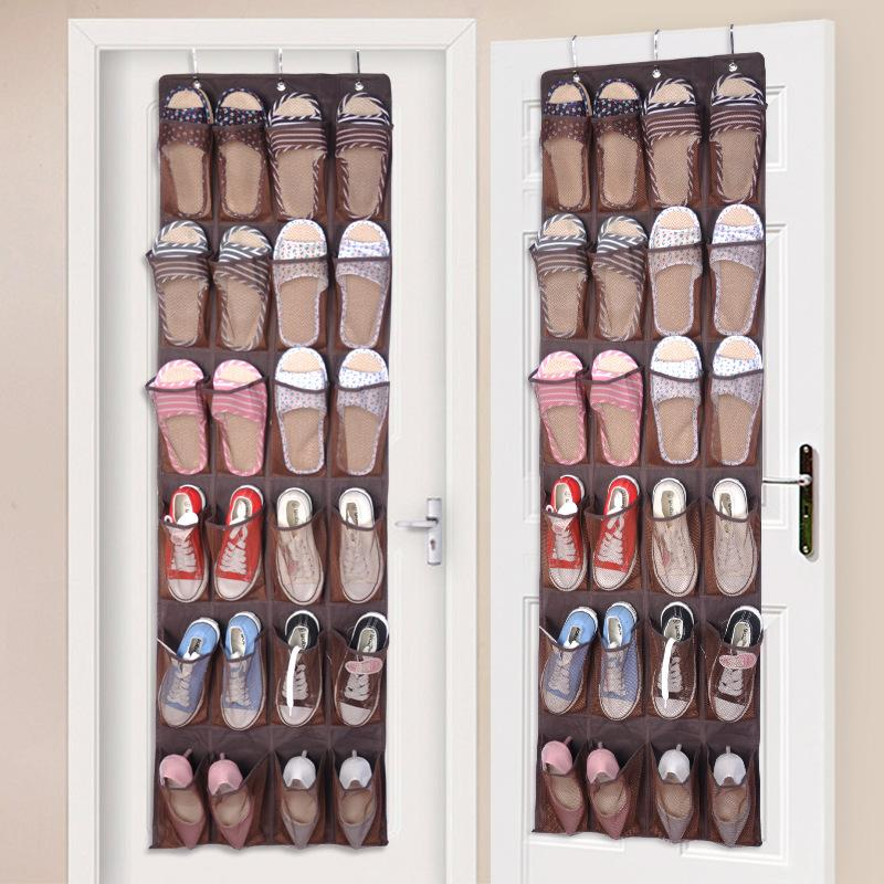 Hanging Shoe Organizer3 Metal Hooks Included 24 Pockets