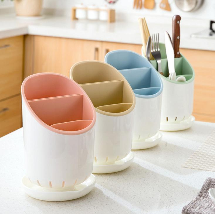 Kitchen Multifunctional Drainable Detachable Tableware Storage Box