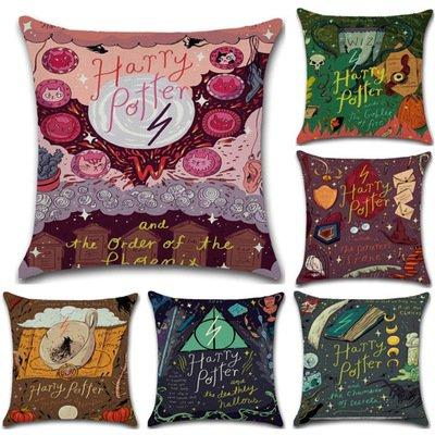 Sofa Magical Style Cotton Linen Throw Pillowcase