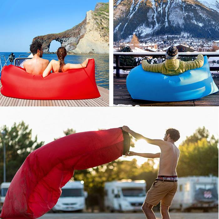 Air Lazy Sofa Outdoor Square-Headed  Fast Air Inflatable Couch Lounger Camping Beach Inflatable