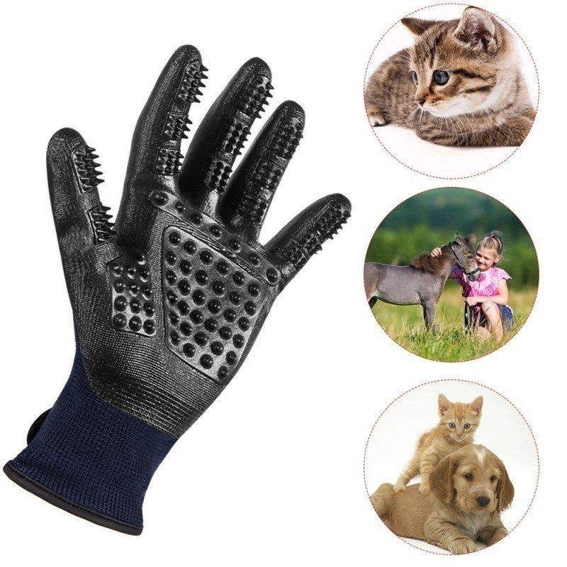 1Pair Pet Dog Bathing Gloves Pet Grooming Gloves Combs