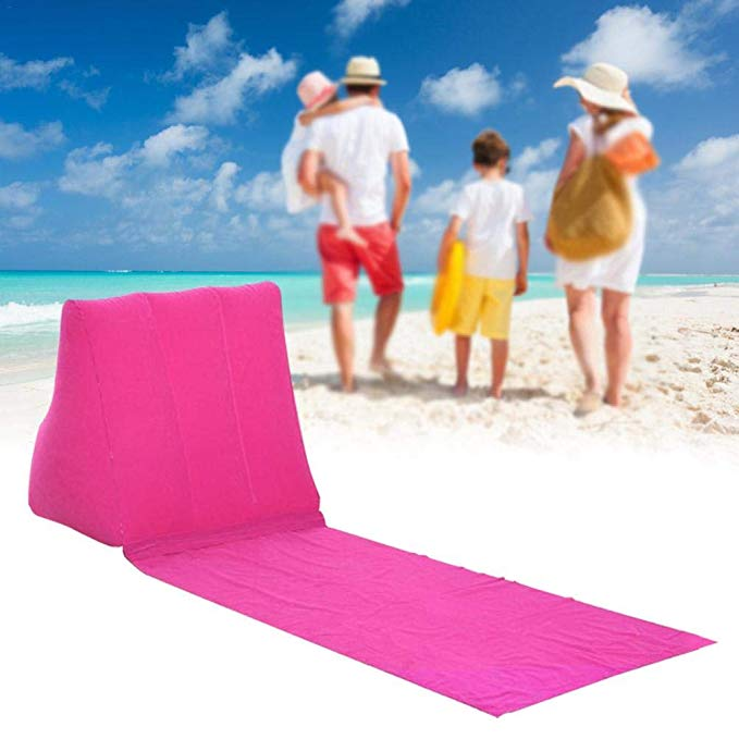 Beach Triangle Pillow PVC Inflatable Beach Cushion Mat for Beach Grassland Outdoor Sports