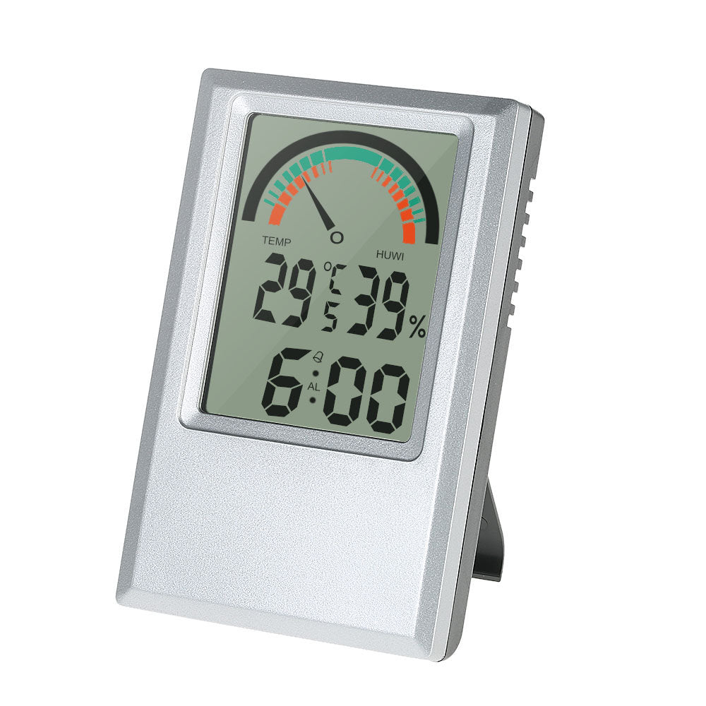 Digital Hygrometer Thermometer Garden Temperature Humidity Meter Max Min Value Alarm Clock