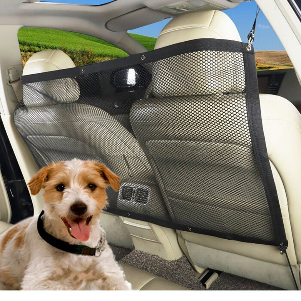 Pet Safety Travel Isolation Net Car Truck Van Seat Pet Dog Cat Barrier Mesh
