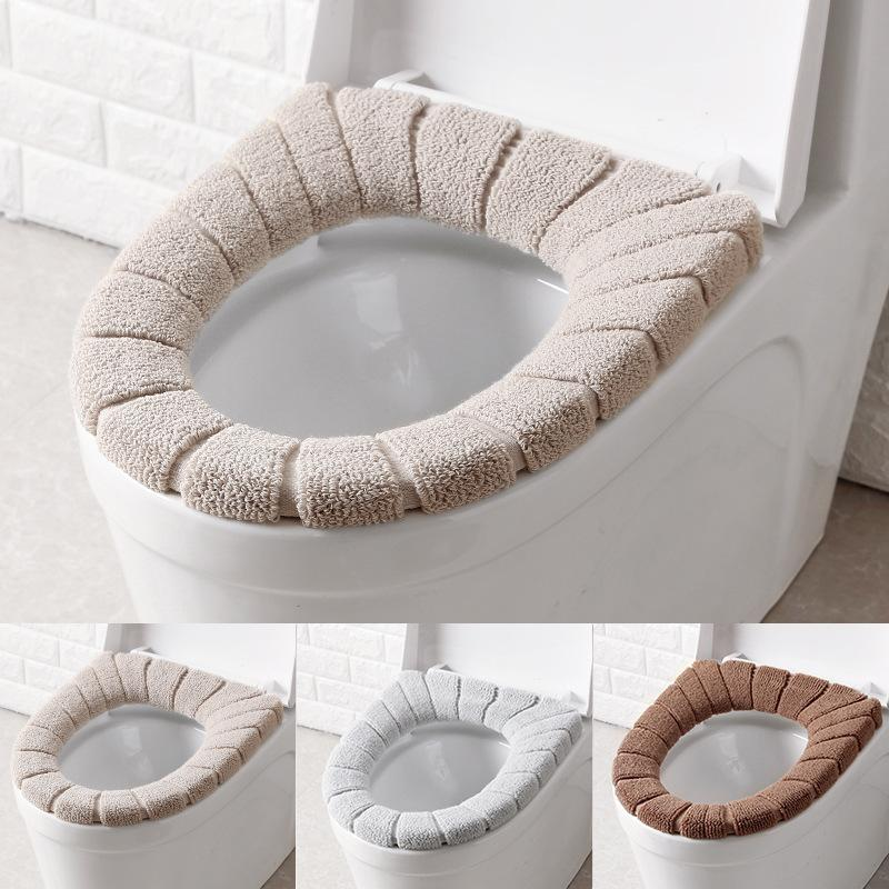 Warmer O Type Toilet Seat Cover Bathroom Washable Pads Soft Comfortable Toilet Mat