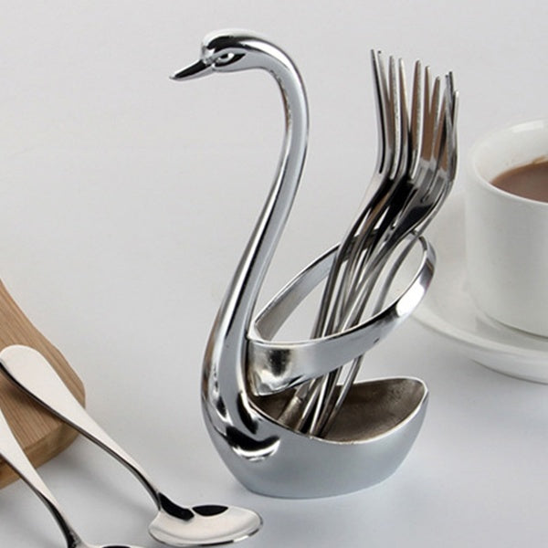 Creative Stainless Steel Fork Spoon Knife Base Holder