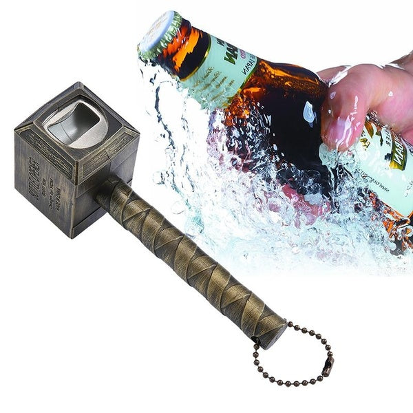 Beer Bottle Opener,Hammer of Thor Shaped Bottle Opener Wine Corkscrew Beverage Wrench
