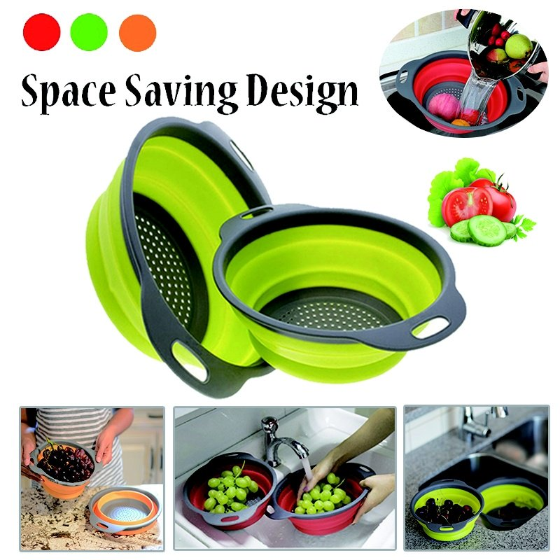 New Design Kitchen Collapsible Fruit Vegetable Strainer Space Saver