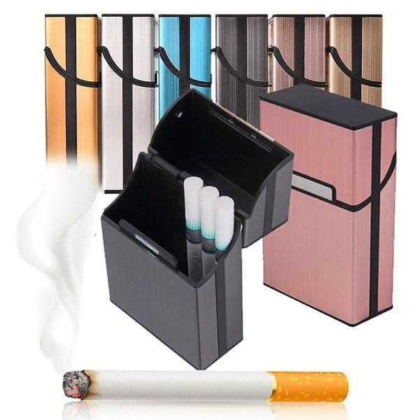 Light Weight Aluminum Alloy Cigarette Case 6 Colors Tobacco Smoking Storage Box