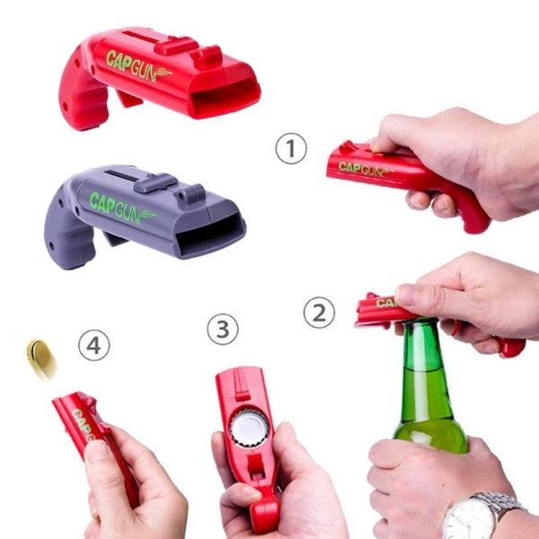 Shooter Beer Drink Bottle Opener Cap Launcher