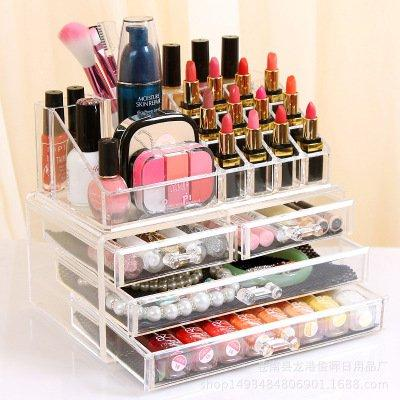 Jewelry  Makeup Organizer Large Capacity Acrylic Cosmetic Storage Display Box