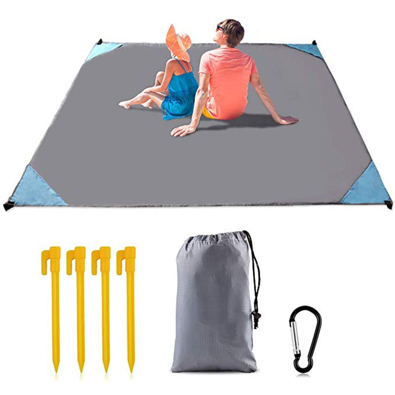 Sand Beach Mat Picnic Mat Compact Beach Pocket Blanket Quick Drying Waterproof Beach Blanket
