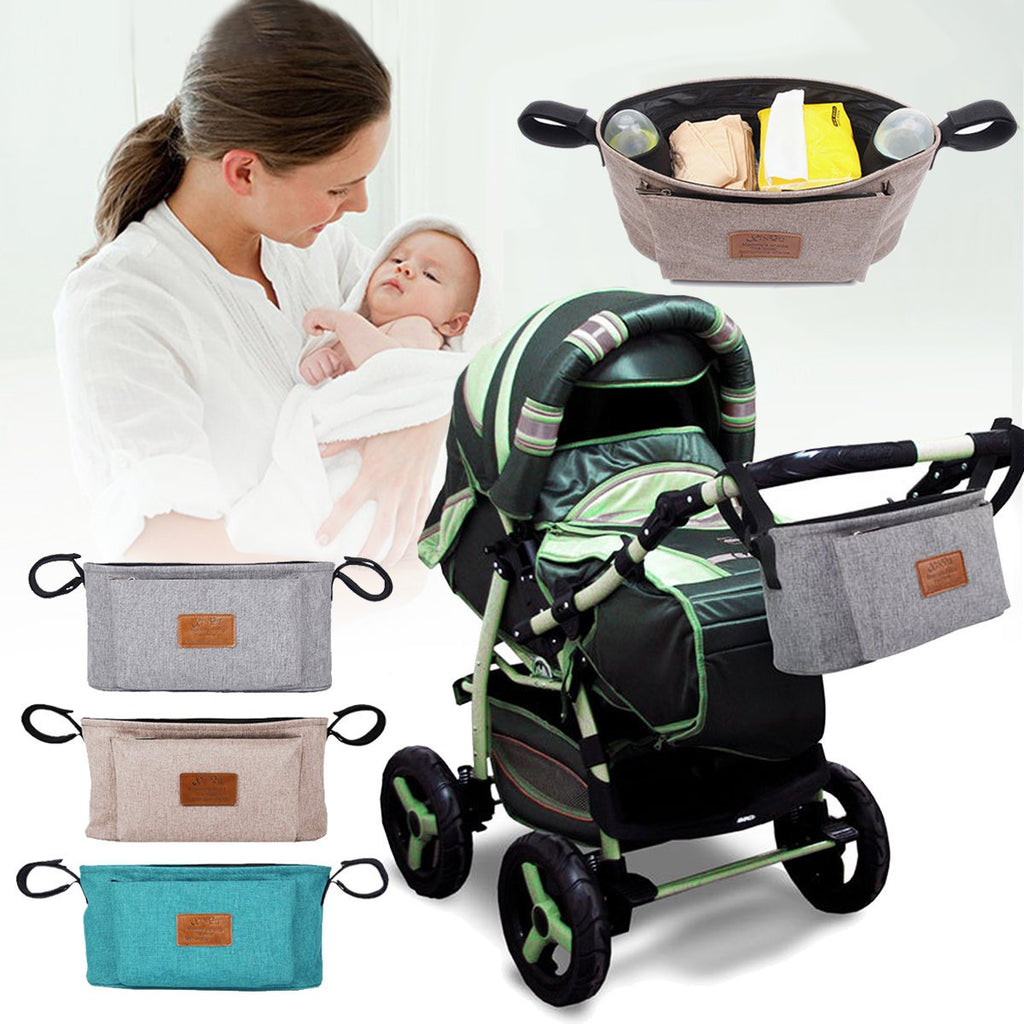 Baby Stroller Organizer Basket Pushchair Travel Diaper Nappies Storage Bag