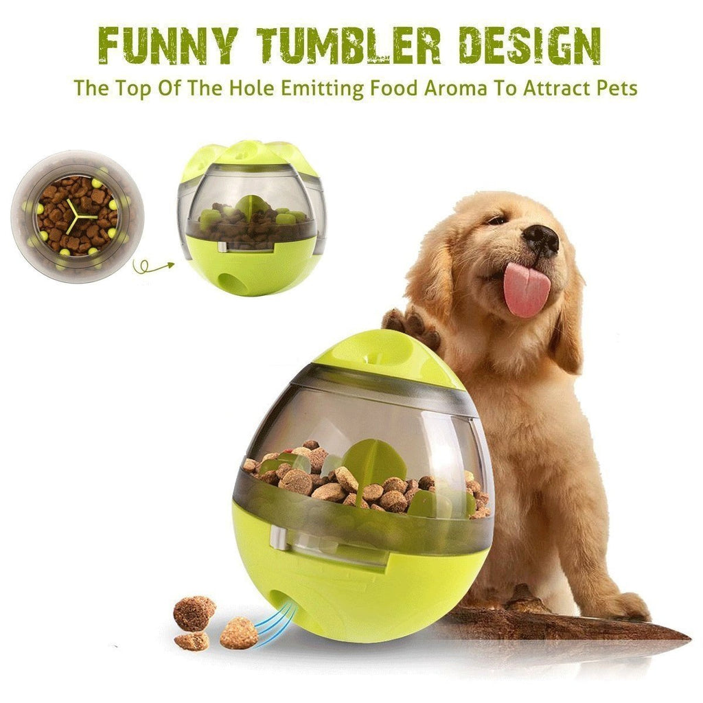 Pet Treat Ball Dog Cat Food Dispenser Feeder Training Playing