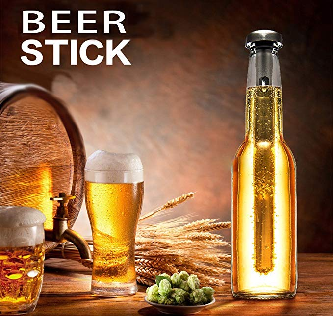 Beer Chiller Stick, Stainless Steel Beverage Cooling Stick Bottle Chill Rod for Wine Cooler Cooling ,Beer Chilling Rod ,Unique Gift