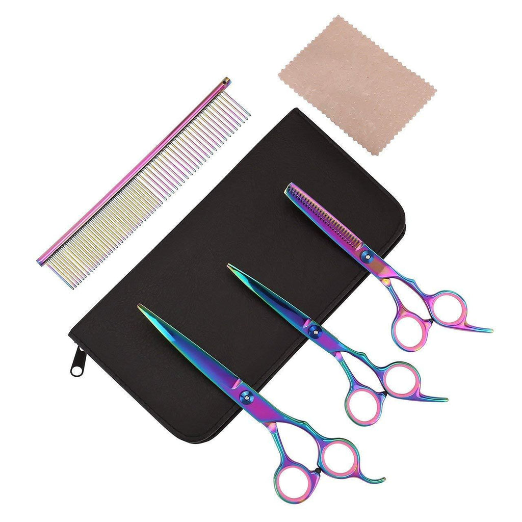 Dog Cat Grooming Scissors Comb Set