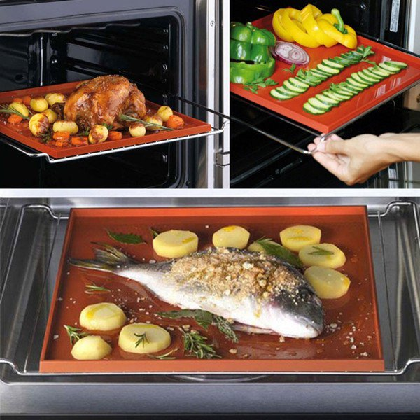 Non-stick Silicone Oven Baking Mat Swiss Roll Baking Sheet Rolling Dough Pad