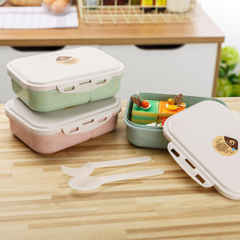Lunch Box Food Fruit Plastic Storage Container Bento Microwave for Children Kids