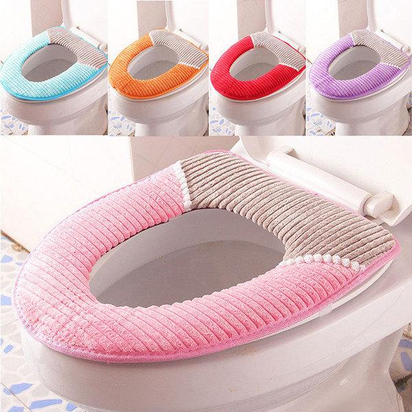 Warmer Fleece Winter Toilet Seat Cover Waterproof Thick Soft Comfortable Potty Seats Case