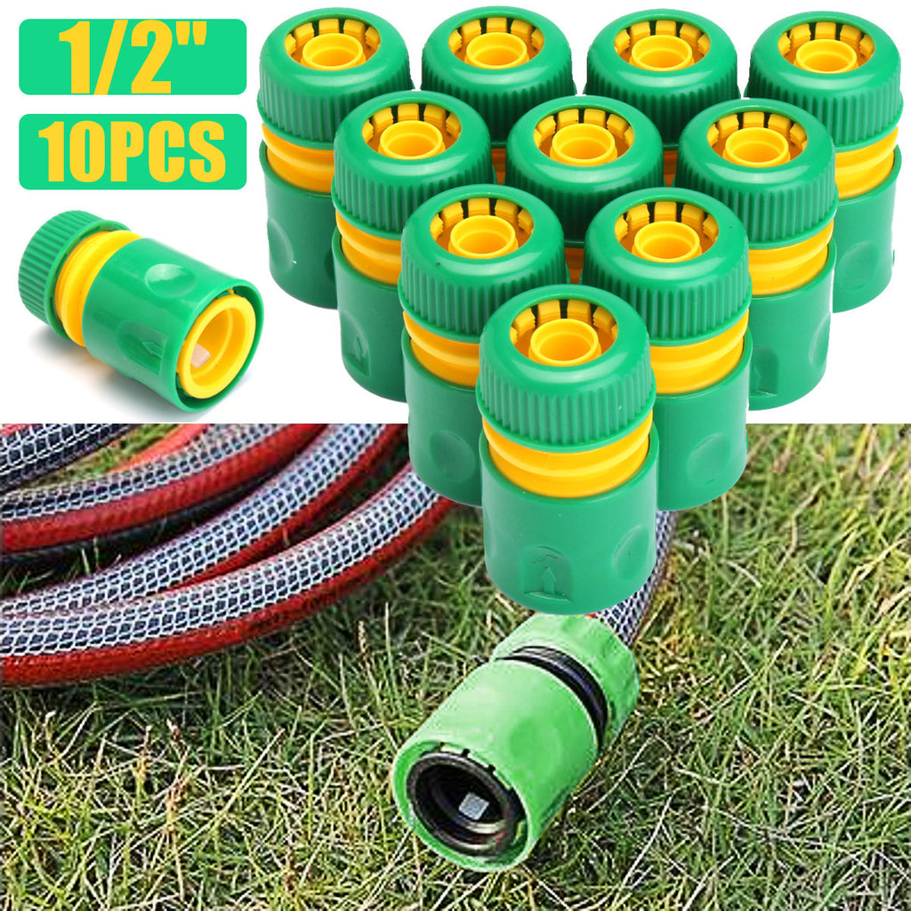 "10pcs 1/2""Garden Tap Water Hose Pipe Connector Quick Connect Adapter Fitting Watering"