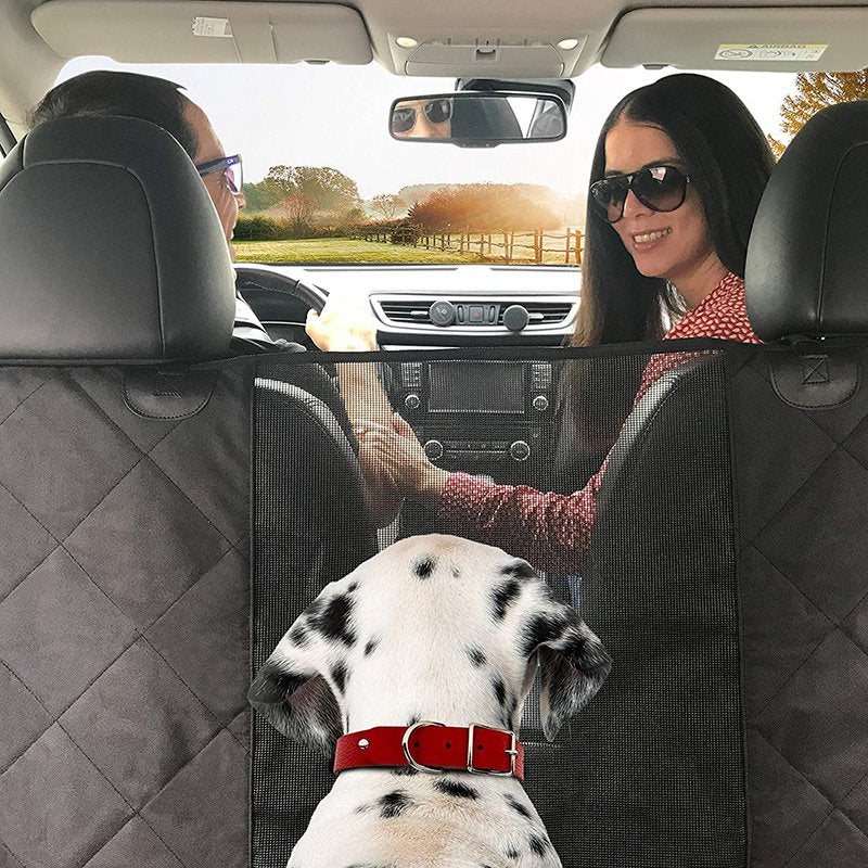 Multifunctional Pet Dog Travel Car Backseat Cover Mat with Safety Barrier Waterproof Seat Cover