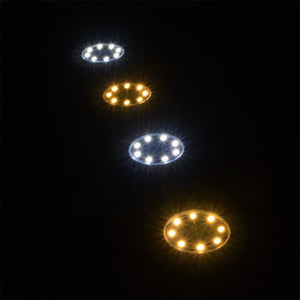 8 LED Solar Powered Underground Light Outdoor Lawn Light Garden Lights