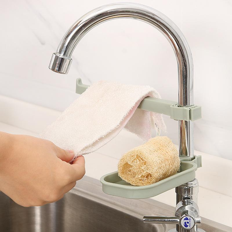 Punch-free Adjustable Drain Towel Soap Storage Box